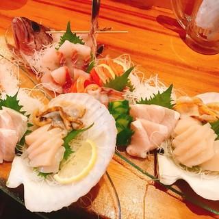 函館近郊の新鮮な魚介を堪能できる!鮮度抜群のお造りが旨い◎
