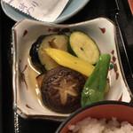 ザ・サイプレスゴルフクラブレストラン - ●和朝食(コーヒー付)¥2000税別       ・焼き魚(鮭の西京焼)       ・だし巻き卵       ・お味噌汁       ・小鉢(野菜の素揚げ)       ・お漬物       ・味付け海苔       ・冷奴