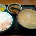 デイリーヤマザキ - 料理写真:とん汁定食 500円