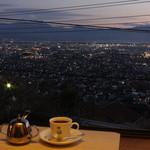10874310 - 夕方の富士山 甲府盆地