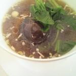 西村 - 椎茸入りスープそば(ランチ2,000円)