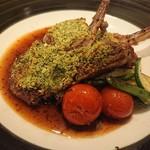 コルク ディッシュ - 子羊の香草パン粉焼き