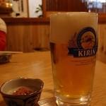 とんかつ梅乃家 - 生ビール