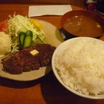 10875855 - ビーフステーキランチ(800円)+ポテトサラダ(100円)
