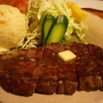 10875856 - ビーフステーキランチ(800円)+ポテトサラダ(100円)