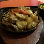 モンゴルレストラン郷 - 鉄板牛肉セット