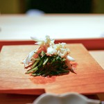炭火割烹 いしい - ☆毛蟹と三つ葉の燻製