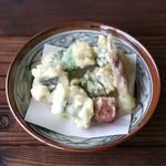 鱧と秋野菜の天ぷら