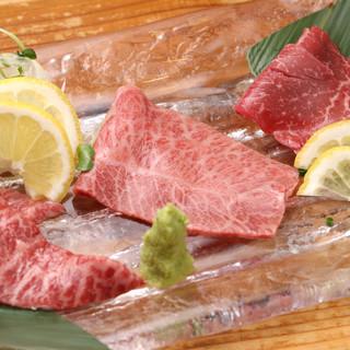 焼肉メニューには岩手県前沢のブランド牛「小形牧場牛」を使用!
