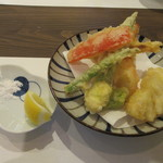 蕎麦 高しま - セットの「天ぷら」