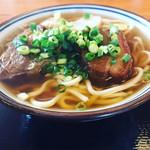 田そば  - お肉がデカイ!