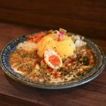 ナゴヤスパイスカレー nora  - Nora Curry チキン&ダル スパイス半タマゴトッピング☆