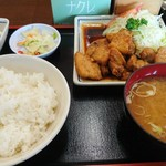 みよし食堂 - 豚バラ定食800円