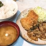 とんかつ三太 - ご飯も味噌汁もセルフ