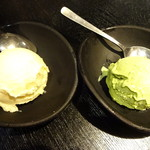 炭火焼肉香味苑 - アイスクリーム(バニラ・抹茶)