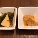 烏賊・鮨ダイニング 鮮助 - 突き出し(あん肝)
