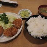 とんかつ とん美 - ヒレカツ定食(850円) 11.10.13.
