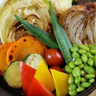 野菜は焼くことでさらなる旨味が溢れます!