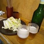 天壺 - お通しキャベツ(食べ放題)