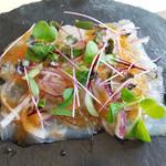 トラットリア ペコレッラ - 真鯛のカルパッチョ