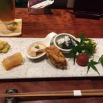 魚鶏料理 仲乃路 - 前菜8点盛り