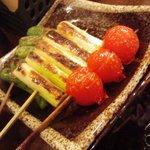 1088613 - 野菜の串焼き: ミニトマト、長ネギ、ししとう