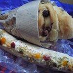 ヴィ・ド・フランス - チョコチップパン、長細いラップだyo