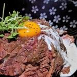 夜桜 - ローストビーフ丼