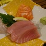 炭火焼鶏×デザート こてつ - 鮮魚の3種盛り