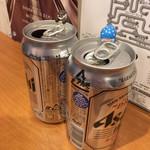 カンザイパン本舗 - 缶ビールで乾杯♪