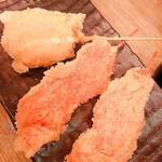 水炊き・焼鳥 とりいちず酒場 - 串揚げ 紅しょうがとチーズ