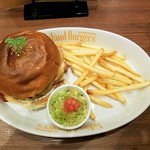Island Burgers - 上空から ベーコンエッグチーズバーガー