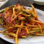 中華大千居 - チャーシューと葱のあえ物