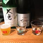 クラフトビアバル IBREW WIRED - 3種飲み比べ ¥690 アウグスホワイト ちえびじん 大倉