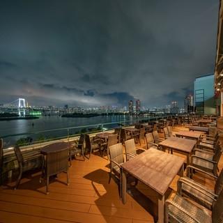 大人気【ビアテラス席】東京湾の絶景と共に…気品あるお時間を。