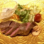 白浜 kappou kawanishi - 和牛のステーキ&ブラウンマッシュルームソース