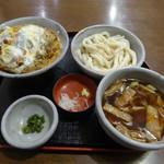かるた - 料理写真:サービスかつ丼・肉汁うどんセット_2019-05-27