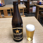 イキイキ・ギョーザ - ビール(ビン)♪