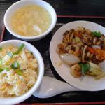 10884106 - 芝エビのマーラー醤炒め(週替わりランチ)