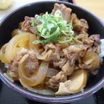 宝製麺所 - すじ牛丼 380円
