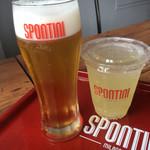 PIZZERIA SPONTINI - Draft Beer・M & Lemon squash