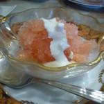 カフェ ド ベル - 静岡産苺のソルベ