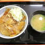 吉野家 - 焼味豚丼(並)と味噌汁