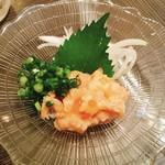 かっぱ - サーモンの塩辛  580円