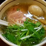 麺屋 旬 - しお味玉らーめん(ネギ抜き)