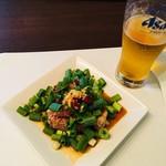 蘭亭 - 生ビール&蘭亭特製酢豚