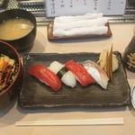幸鮨 - ミニ穴子丼とにぎり4貫¥1000-