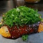 広島お好み焼き・鉄板焼き しょうちゃん - そば肉玉ネギトッピング