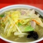 中華料理 宝楽 - タンメン(600円)-上から-