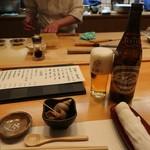 寿司・割烹 四六八ちゃ - 中瓶ビール700円